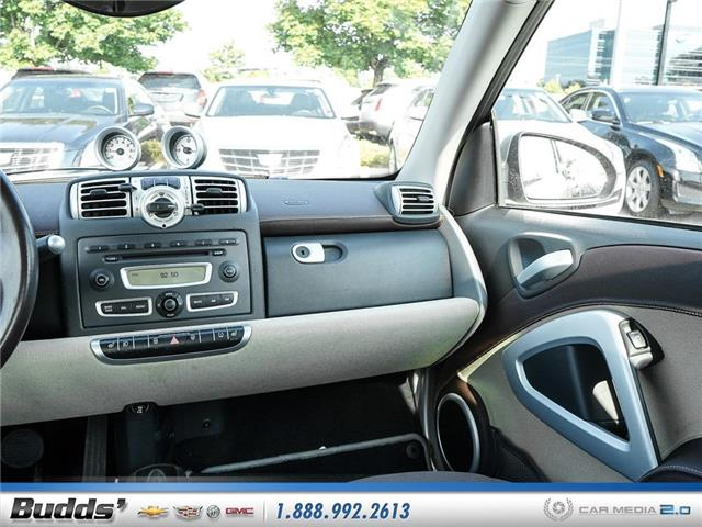 2009 Smart Fortwo Passion (Stk: CV9019T) in Oakville - Image 11 of 24