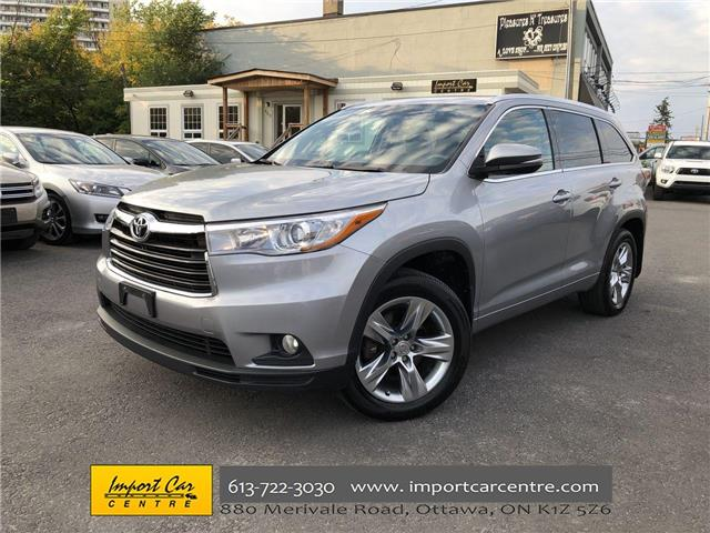 2015 Toyota Highlander Limited (Stk: 185915) in Ottawa - Image 1 of 27