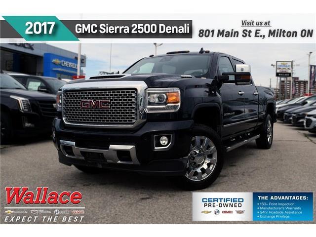 2017 GMC Sierra 2500HD 1 OWNR | DIESEL | DENALI | LEATHR | SUNROOF | Z71 (Stk: PR5122) in Milton - Image 1 of 28