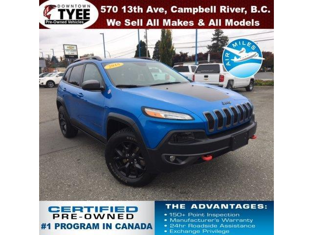 2018 Jeep Cherokee Trailhawk (Stk: T19162A) in Campbell River - Image 1 of 30