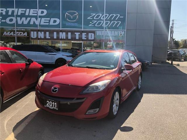 2011 Mazda Mazda3 Sport GT 6sp AS IS, LEATHER, SUNROOF, ALLOYS, BLUETOOTH, (Stk: 19825A) in Toronto - Image 1 of 1