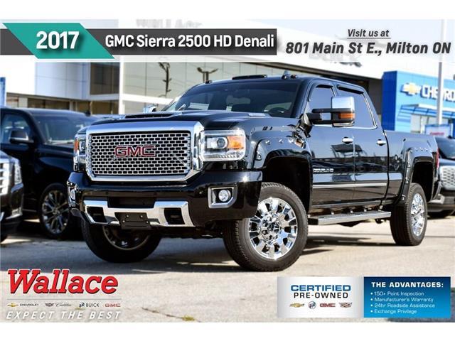 2017 GMC Sierra 2500HD 1 OWNR | DIESEL | DENALI | LEATHR | SUNROOF | Z71 (Stk: 218117A) in Milton - Image 1 of 26