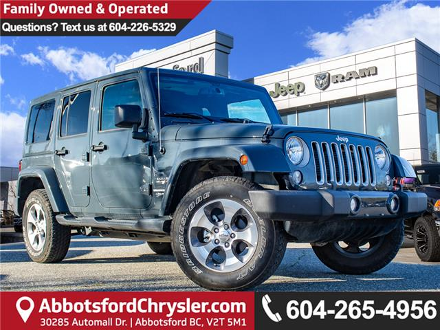 2018 Jeep Wrangler JK Unlimited Sahara (Stk: AB0953) in Abbotsford - Image 1 of 39