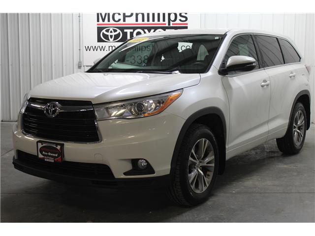 2015 Toyota Highlander LE (Stk: A14033) in Winnipeg - Image 1 of 27