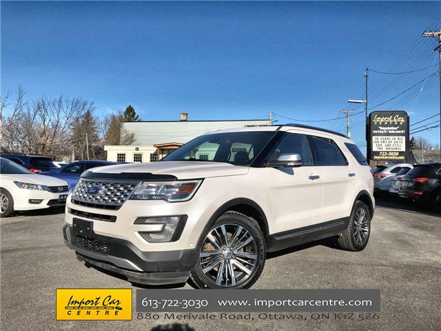 2017 Ford Explorer Platinum (Stk: A49062) in Ottawa - Image 1 of 26