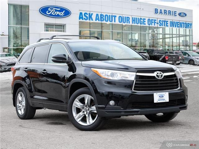 2016 Toyota Highlander LE (Stk: T1451A) in Barrie - Image 1 of 27