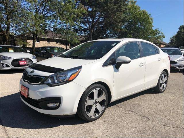 2014 Kia Rio SX/NAVIGATION/SUNROOF/LEATHER!! (Stk: 5518) in Stoney Creek - Image 1 of 25