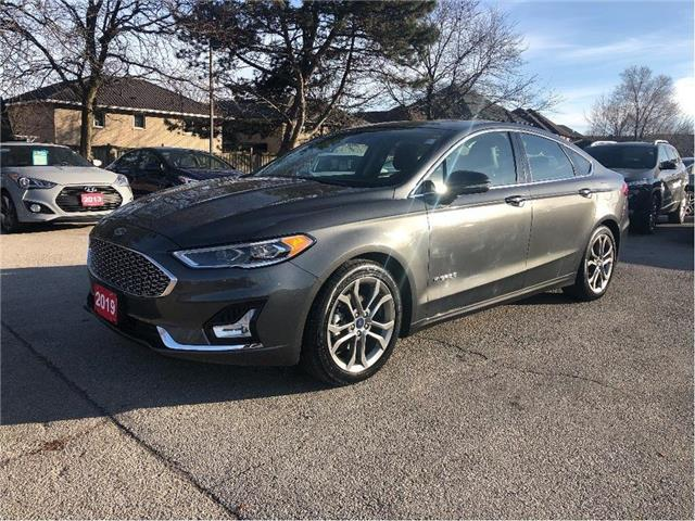 2019 Ford Fusion Hybrid Titanium| NAVIGATION| HYBRID| LEATHER |LOADED (Stk: 5539) in Stoney Creek - Image 1 of 26