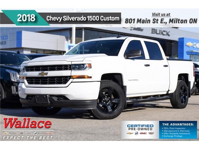 2018 Chevrolet Silverado 1500 CUSTOM | 5.3V8 | 20 RIMS | REAR VIEW CAM (Stk: PL5279) in Milton - Image 1 of 23