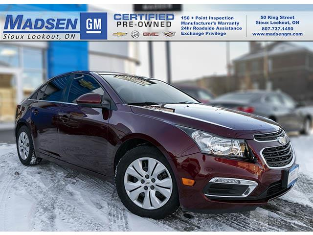 2015 Chevrolet Cruze 1LT (Stk: B19455) in Sioux Lookout - Image 1 of 11