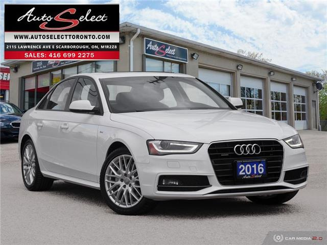 2016 Audi A4 Quattro WAUBFCFL1GN017572 1A4W939 in Scarborough