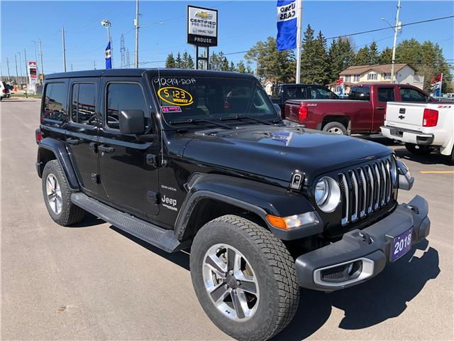 2018 Jeep Wrangler Unlimited Sahara (Stk: 9299-20A) in Sault Ste. Marie - Image 1 of 15