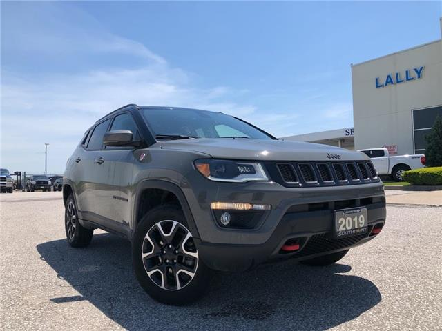 2019 Jeep Compass Trailhawk (Stk: S10486R) in Leamington - Image 1 of 25