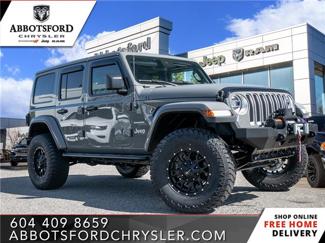 2020 Jeep Wrangler Unlimited Sahara (Stk: L191943) in Abbotsford - Image 1 of 23