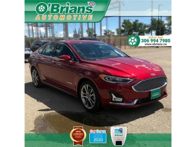 2019 Ford Fusion Hybrid Titanium 3FA6P0RU7KR191176 13504A in Saskatoon
