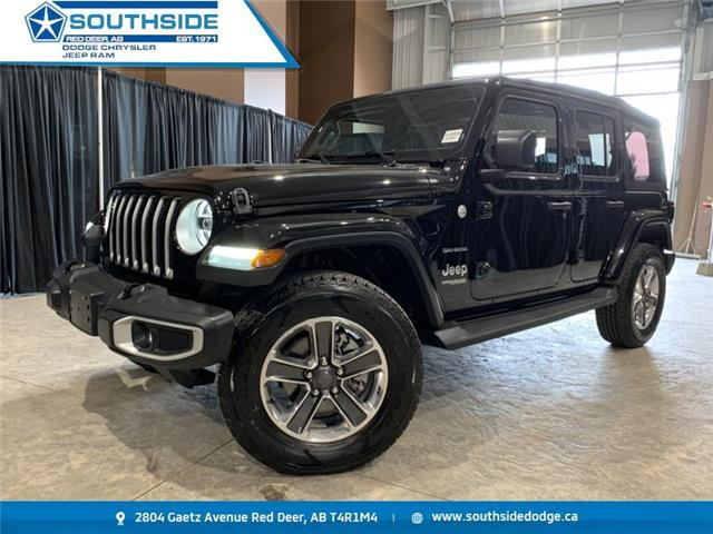 2019 Jeep Wrangler Unlimited Sahara (Stk: A14589A) in Red Deer - Image 1 of 18