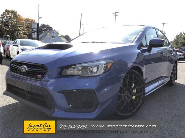 2018 Subaru WRX STI Sport-tech w/Lip (Stk: 800039) in Ottawa - Image 1 of 26