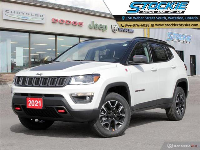 2021 Jeep Compass Trailhawk (Stk: 35019) in Waterloo - Image 1 of 27
