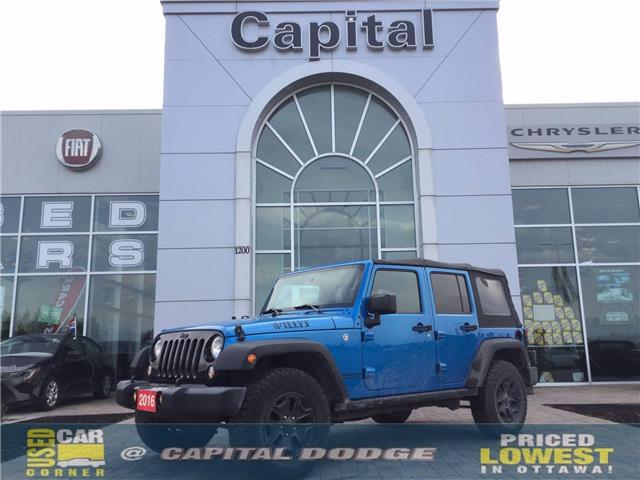 2016 Jeep Wrangler Unlimited Sport (Stk: L00480B) in Kanata - Image 1 of 19