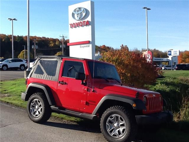 2017 Jeep Wrangler Sport (Stk: 20492a) in Owen Sound - Image 1 of 9