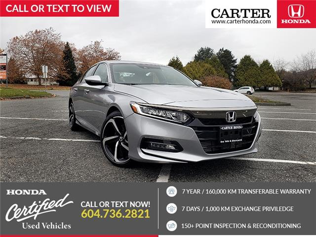 2019 Honda Accord Sport 1.5T (Stk: 6L31551) in Vancouver - Image 1 of 26