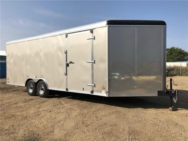 2021 Forest River 8.5x22 (+4 ft V-nose) Enclosed Car/Toy Hauler  (Stk: 37571) in SASKATOON - Image 1 of 13