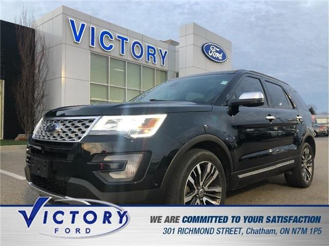 2017 Ford Explorer Platinum (Stk: V3665LB) in Chatham - Image 1 of 24