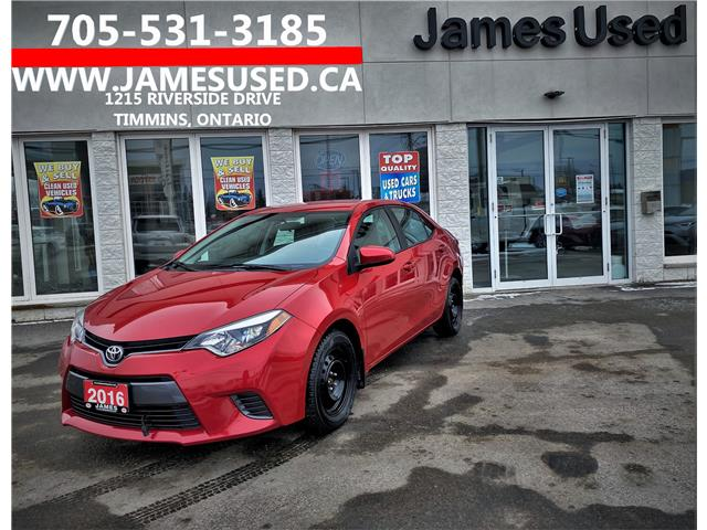 2016 Toyota Corolla LE (Stk: P02864) in Timmins - Image 1 of 14
