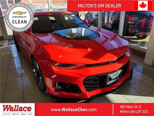 2019 Chevrolet Camaro ZL1 Upgraded Cold Air Intake, Auto, Roof, NAV (Stk: 100410A) in Milton - Image 1 of 2