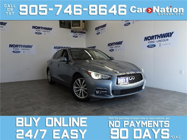 2015 Infiniti Q50 AWD | LEATHER | SUNROOF | NAV | LOW KMS! (Stk: OF11504A) in Brantford - Image 1 of 26