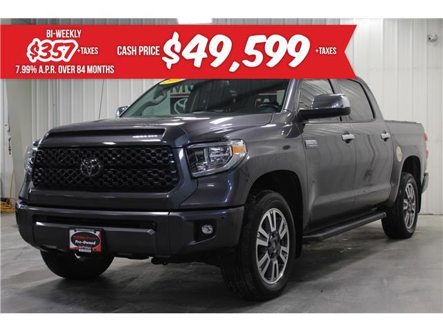 2018 Toyota Tundra Platinum 5.7L V8 (Stk: S033393A) in Winnipeg - Image 1 of 25