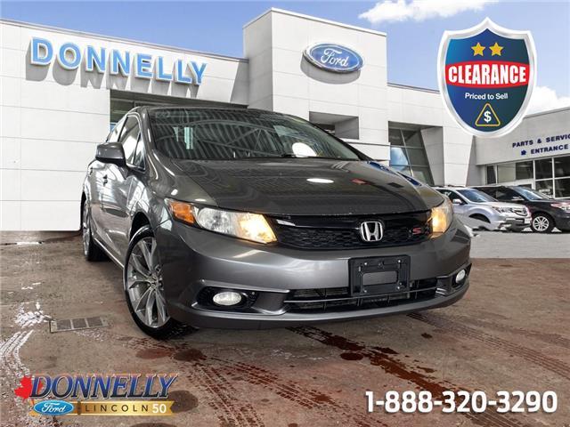 2012 Honda Civic Si 2HGFB6E5XCH200350 CLDS891A in Ottawa