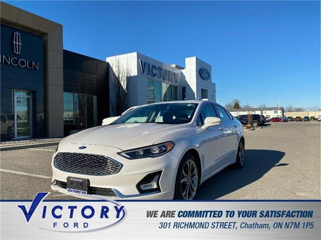 2020 Ford Fusion Hybrid Titanium (Stk: V0102R) in Chatham - Image 1 of 21
