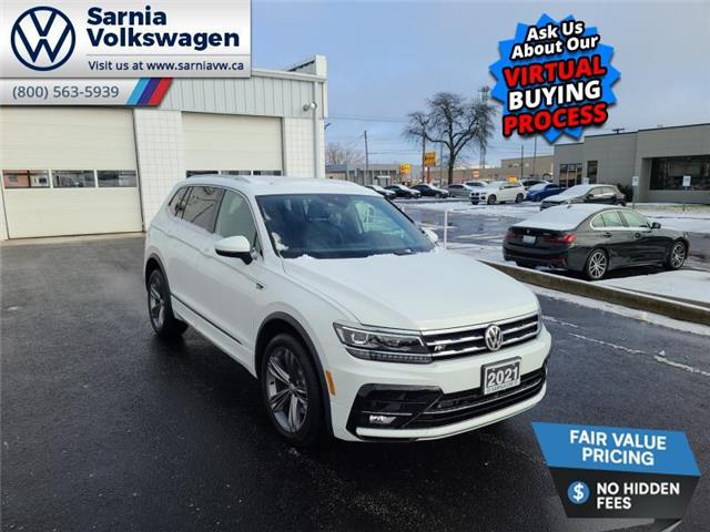 2021 Volkswagen Tiguan Highline (Stk: V2127) in Sarnia - Image 1 of 14