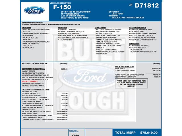 2018 Ford F-150 XLT (Stk: C5642) in Concord - Image 1 of 1