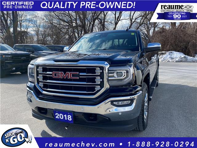 2018 GMC Sierra 1500 SLT (Stk: 21-0410A) in LaSalle - Image 1 of 23