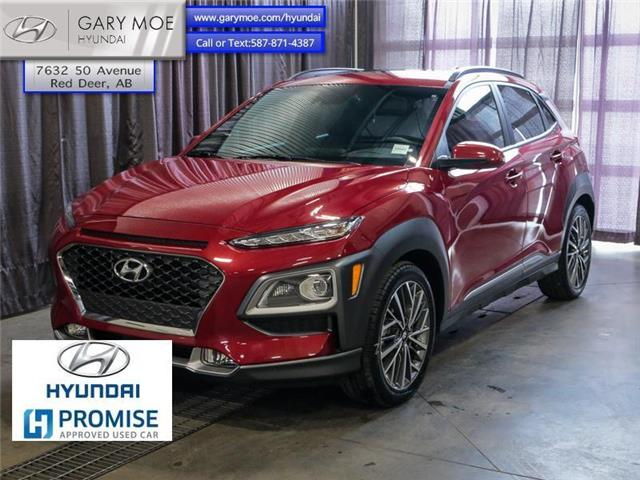 2020 Hyundai Kona 1.6T Ultimate AWD w/Red Colour Pack (Stk: 1TU3916A) in Red Deer - Image 1 of 24