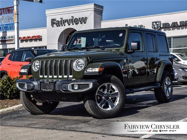 2021 Jeep Wrangler Unlimited Sahara (Stk: U18460DR) in Burlington - Image 1 of 28