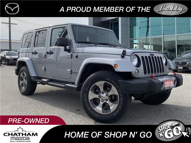 2018 Jeep Wrangler JK Unlimited Sahara (Stk: UM2566) in Chatham - Image 1 of 21