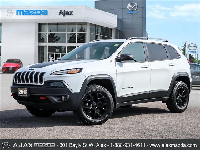 2018 Jeep Cherokee Trailhawk (Stk: 21-1278A) in Ajax - Image 1 of 30
