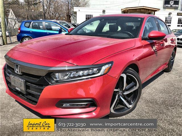 2018 Honda Accord Sport (Stk: 800591) in Ottawa - Image 1 of 26