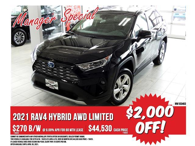 2021 Toyota RAV4 Hybrid Limited (Stk: W103463) in Winnipeg - Image 1 of 22
