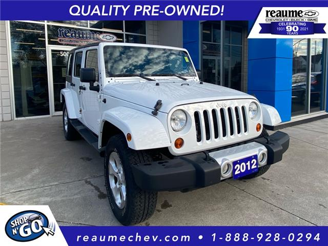 2012 Jeep Wrangler Unlimited Sahara (Stk: 21-0175A) in LaSalle - Image 1 of 23
