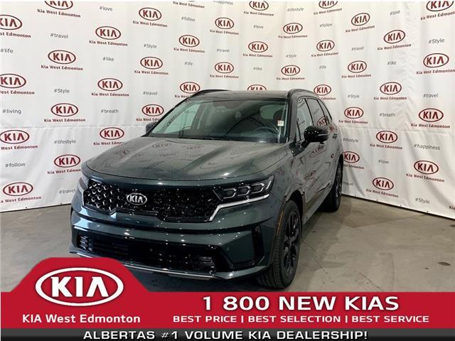 2021 Kia Sorento 2.5T SX w/Black Leather (Stk: 23010) in Edmonton - Image 1 of 35