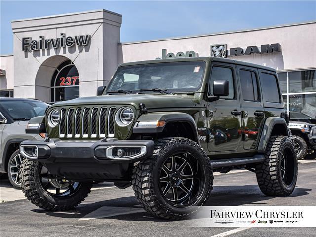 2020 Jeep Wrangler Unlimited Sahara (Stk: U18633) in Burlington - Image 1 of 32