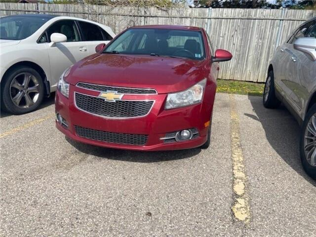 2013 Chevrolet Cruze 4dr Sdn LT Turbo, MANUAL, HEATED SEATS, 1.4L 4CYL (Stk: 148400B) in Milton - Image 1 of 1