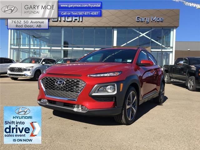 2021 Hyundai Kona 1.6T Ultimate AWD w/Red Pkg (Stk: 1KN1359) in Red Deer - Image 1 of 11