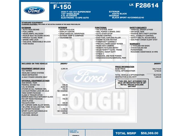 2020 Ford F-150 XLT (Stk: C6088) in Concord - Image 1 of 1