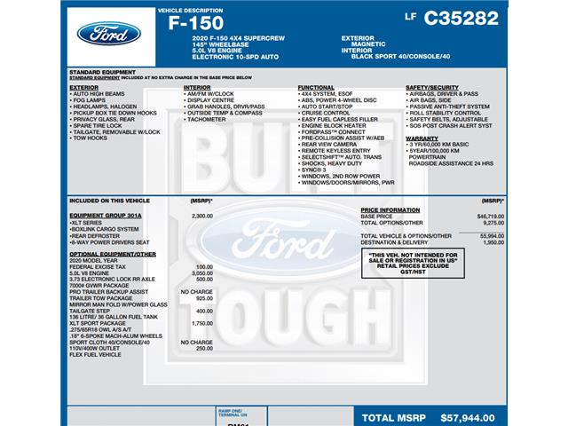 2020 Ford F-150 XLT (Stk: C6107) in Concord - Image 1 of 1