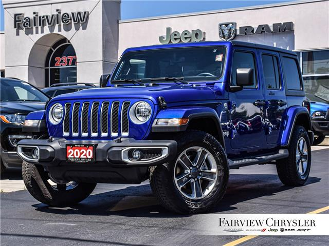 2020 Jeep Wrangler Unlimited Sahara (Stk: U18689) in Burlington - Image 1 of 29